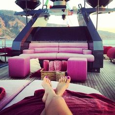 On a boat,