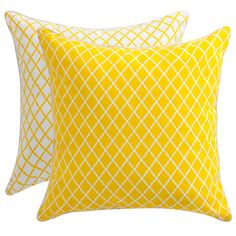 Florence Broadhurst - Antique Lattice Yellow Cushion | Peter's of Kensington