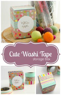 Seriously the cutest Washi Tape Storage Box ever!!  #MakeAmazing #washitape #ad