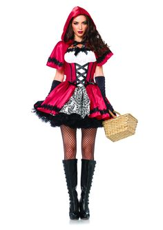 Gothic Red Costume - Little Red Riding Hood