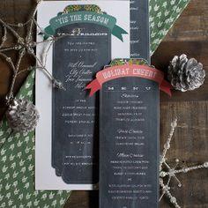 Festive Winter Wedding Ceremony Program Template