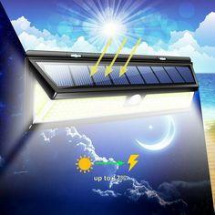 Outdoor Garden Pathway Wall Lamp Motion Sensor COB Solar Power Wall Light - Ideas of Solar Lamp Led Path Lights, Solar Wall Lights, Solar Lanterns, Solar Lamp, Solar Powered Lights, Diy Solar, Outdoor Garden Lighting, Outdoor Wall Lamps, Outdoor Wall Lighting