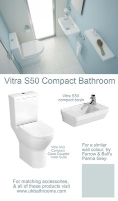 exactly what we want under the stairs! The Vitra Compact Bathroom. Vitra Bathrooms, Tiny Bathrooms, Small Toilet, New Toilet, Modern Bathroom Design, Bathroom Interior Design, Interior Ideas, Downstairs Toilet, Downstairs Cloakroom