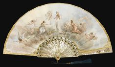AMOTHER-OF-PEARLFAN COMMEMORATING THE FRENCH COMPOSER FERDINAND HEROLD (1791-1887),BY L. NORBLIN, PARIS, CIRCA 1891.      sotheby's pf1112lot66g9len Antique Fans, Vintage Fans, Hand Held Fan, Hand Fans, Fan Language, Old Fan, Hat Pins, Beautiful Hands, Modern Art