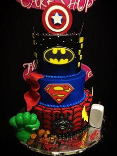 awesome avengers cake for cody? But want only Hulk, Iron Man, Capt America, Thor, Arrow and Black Widow on it.