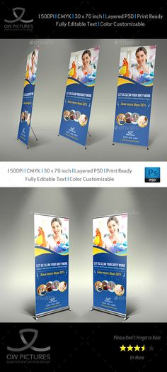 Cleaning Services Signage Roll Up Template #design Download: http://graphicriver.net/item/cleaning-services-signage-roll-up-template-vol2/10573783?ref=ksioks