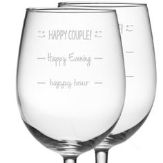 I'm voting for Happy Couple!  Cool wine glass gift.