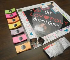 Board games 539235755358507393 - DIY Lovopoly Board Game… I love making things. def doing this to play on our anniversary night! Bf Gifts, Diy Gifts For Boyfriend, Love Gifts, Gifts For Husband, Craft Gifts, Board Games For Couples, Couple Games, Homemade Board Games, Thrift Store Crafts
