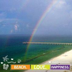 And at the end of the rainbow: paradise. #HiltonPensacolaBeach #PensacolaBeach #UpsideofFL #LoveFL #Hilton