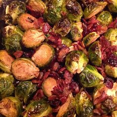 """Roasted Brussels Sprouts with Cranberries 