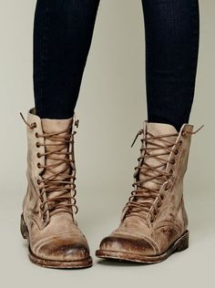 FREEBIRD by Steven Fletch Lace Up Boot at Free People Clothing Boutique in Natural. The name matches my tattoo! Women's Shoes, Zapatos Shoes, Sock Shoes, Cute Shoes, Me Too Shoes, Flat Shoes, Beige Shoes, Bootie Boots, Shoe Boots