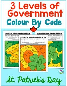 Three Levels of Government in Canada - Colour by Code Learning Resources, Teaching Ideas, Levels Of Government, Social Studies, Goodies, Coding, Canada, Study, Easter