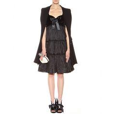 Alexander McQueen - Ruched dress with velvet - mytheresa.com GmbH