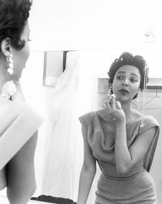Dorothy Dandridge was born 91 years ago today in Cleveland, Ohio. This photo was taken by David Sutton in 1955.