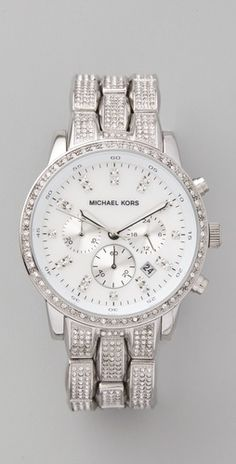 Showstopper glitz chronograph watch -- Michael Kors