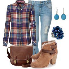 Feelin Plaid :) Falll/late Summer outfit