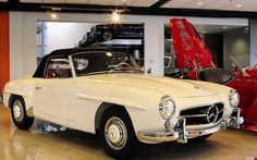 Inspiration for our restoration. 1962 Mercedes Benz 190sl. Ours is torn apart :) Hopefully it will look like this in a few years.