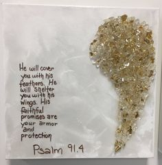 Angel Wings Psalm 12 x 12 – Art Shattered Angel Wings Painting, Angel Wings Drawing, Diy Angel Wings, Wooden Angel Wings, Angel Paintings, Angel Artwork, Small Paintings, Psalm 12, Cross With Wings