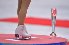 TOKYO, JAPAN - NOVEMBER 09:  Gold medalist Mao Asada of Japan stands on the podium during day two of ISU Grand Prix of Figure Skating 2013/2...