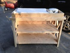 Baby Changing Table Woodworking Plans Rustic X Changing Table - Front, UnfinishedRustic X Changing Table - Front, Unfinished Changing Table With Drawers, Best Changing Table, Baby Changing Station, Baby Crib Diy, Baby Nursery Diy, Baby Cribs, Nursery Ideas, Baby Table, Shops