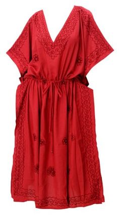 Womens Embroidered Swimwear Beach Dress Casual Dress Caftan Red dress Plain Valentines Day Gifts 2017 ** Details can be found by clicking on the image. Maternity Tights, Maternity Wear, Maternity Dresses, Maternity Activewear, Short Kimono, Beach Casual, Bikini Cover Up, Embroidered Tunic, Pregnancy Outfits