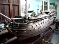 Victory ship in process made by Giannis Boudalas