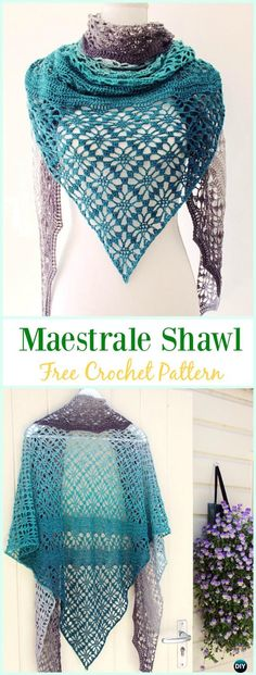 Crochet Maestrale Shawl Free Pattern - #Crochet; Women #Shawl; Sweater Outwear Free Patterns