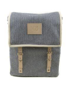 MöHeap Blue Stripe Globby Canvas #Backpack by Modernaked on Etsy