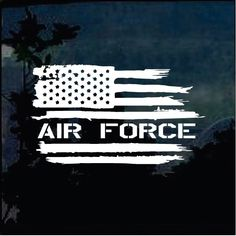 Easy Peel and Stick installation - Air Force Weathered American Flag Military Window Decal Stickers Great for Truck, Cars, Jeep and more - Made in USA