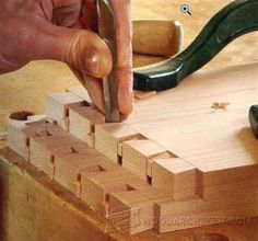 Hand-Cut Dovetail - Joinery Tips, Jigs and Techniques - Woodwork, Woodworking, Woodworking Tips, Woodworking Techniques #WoodworkingTips