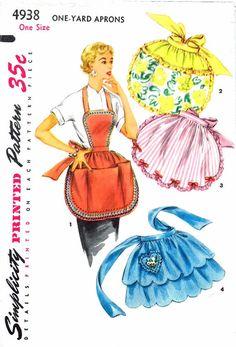 Womens Apron Pattern Hostess One Yard Heart Shape by patternshop, $37.99