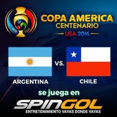 """Arranca una nueva ilusión y como dijo """"Cholo"""" #Simeone , """"no es una revancha sino una nueva oportunidad""""!!! Jugá #Argentina vs #Chile en spingol.com deportes."""