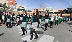 Irish dancers entertain during the annual St. Patrick's Day parade at The Gateway Saturday, March 14, 2015, in Salt Lake City.