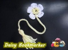 This Your place to Learn to make the Daisy Book Marker For FREE. by Meladora's Creations - Free Crochet patterns and Video Tutorials