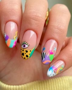 Simple Acrylic Nails, Best Acrylic Nails, Pastel Nails, Summer Acrylic Nails, Spring Nails, Acrylic Nail Designs, Funky Nails, Cute Nails, Sexy Nails