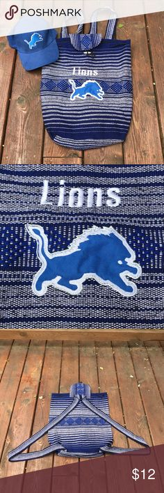 Detroit Lions bag Great Condition practicly NWOT! Bags Backpacks