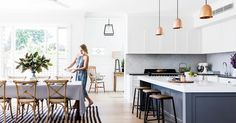To improve the interior of your home, you may want to consider doing a kitchen remodeling project. This is the room in your home where the family tends to spend the most time together. If you have not upgraded your kitchen since you purchased the home,. Home Decor Kitchen, Kitchen Interior, New Kitchen, Home Kitchens, Kitchen Ideas, Kitchen Layout, Modern Shaker Kitchen, Kitchen Grey, Kitchen Country