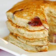 Cherry Banana Pancakes.