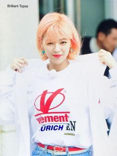 TWICE - Jungyeon Twice Jungyeon, Twice Kpop, Korean K Pop, Korean Music, Nayeon, Kpop Girls, Girl Group, Idol, T Shirts For Women