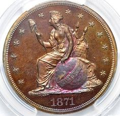 Rare Coin Wholesalers, 1871 $1 J-1148 PCGS PR66RB, Price: $31,500.00. http://www.collectorscorner.com/Products/Item.aspx?id=13381515. #Numismatic #Pattern #Coin