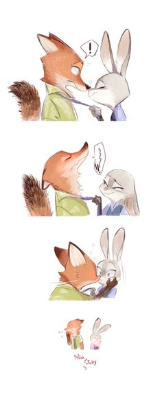 Zootopia - Nick Wilde x Judy Hopps - Wildehopps Zootopia Comic, Zootopia Art, Art Disney, Disney Magic, Disney And More, Disney Love, Fanart, Judy And Nick, Nick And Judy Comic