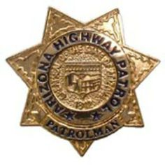 """I wore this on the collar of my uniform blouse. Arizona Highway Patrol Badge Pin 1"""" by FindingKing. $9.50. This is a new Arizona Highway Patrol Badge Pin 1"""""""