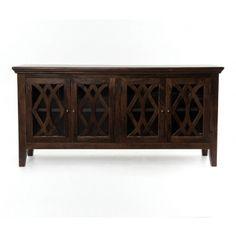 Rhodes Sideboard 4 Door-Antique Brown