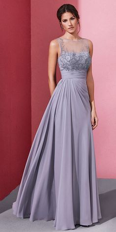 Enchanting Chiffon Jewel Neckline A-line Prom Dress With Beaded Embroidery