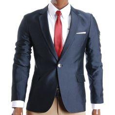 Shop a great sellection of Men's Sport Coats & Blazers at FLATSEVEN. Discover our range of blazers for Men. Blazer Jacket, Blazer Suit, Suit Combinations, Mens Sport Coat, Gents Fashion, Designer Clothes For Men, Blazers For Men, Slim Man, Boutique Clothing