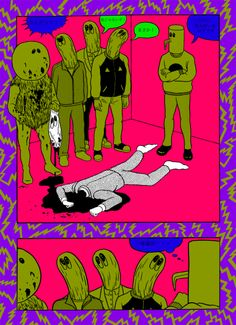 Japanese Illustration: Murder. Hotta Tomoaki. 2011 - Gurafiku: Japanese Graphic Design