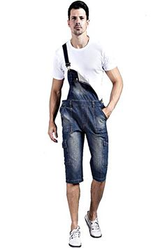 5e1c24e662eb2 Denim Men's Plus Size Pockets Short Bib Overalls: Tips ablout Jeans Wash  seperately, especially for the first time. Add some salt in the water, ...