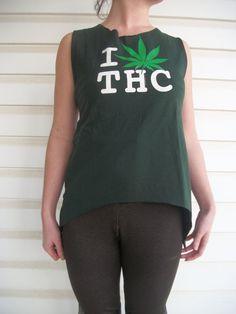 I Love THC Cannabis Medical Marijuana by CosmicalKreationz on Etsy, $20.00