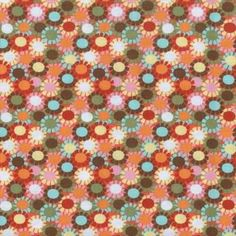 Blank and Hoodie Rumba 5705 Packed Daisies / orange $7.99/yd