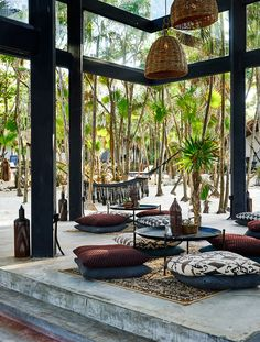 new rustic beach hotel is designed with wellness in mind The lobby area of Habitas Tulum.The lobby area of Habitas Tulum. Design Hotel, Bar Interior Design, Lobby Design, Interior Modern, Kaanapali Beach Hotel, Beach Hotels, Luxury Hotels, Tulum Beach, Hilton Hotels